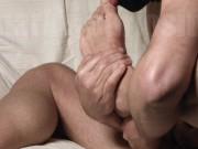 Self Sloppy Feet Worship toe Sucking Solo Male Straight