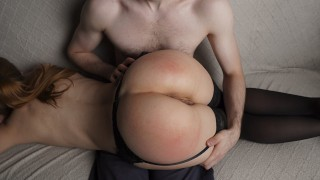 Hot Spanking For My New Neighbor In Sexy Lingerie — 4K Amateur