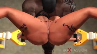 จำกัดพื้นที่ a เซ็กซี่ ไม้มะเกลือ ใน restraints gest ระยำ ยาก โดย a สีดำ ควยใหญ่