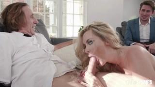 Big Tit Blonde MILF Deepthroats Her Milkman And Cucks Her Wimpy Husband