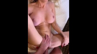 My girlfriend brought a goregous woman back to our hotel and filmed me fucking & filling her up