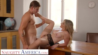 Naughty America Cory Chase gives student tips on making a women's pussy dripping wet