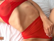 Her short skirt and blowjob blows my cock - Melissa Burn
