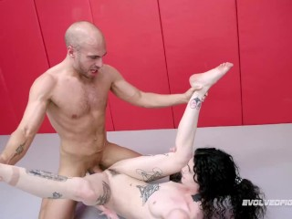 Lydia Black Nude Wrestling Dan Ferrari Being Fucked Right On The Mat Hard - Evolved Fights