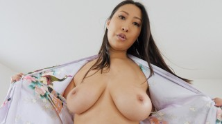 JAY'S POV BUSTY ASIAN STEP MOM SHARON LEE GETS A MORNING CREAMPIE