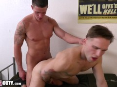 New Recruits Nick & Trent Fuck Raw In The Barracks - ActiveDuty