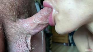Sex Porn Hub - Close Up Blowjob No Hands Deep Blowjob And Cum In Throat Candy Kitty Blowjob