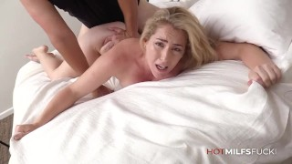 Blonde MILF Abbey James First Fuck On Camera Getting Creampied