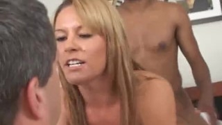 Hot wife cuckold creampie eating sissy strapon femdom sex while hubby watches her fuck big cocks