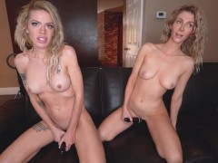 Blonde Babe Roo Plays with JackandJill