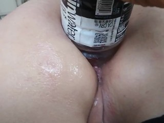 Energy Drink Up Her Gaping Ass