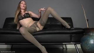 Layered Nylon Worship - Pantyhose Domination Orgasm Control TRAILER
