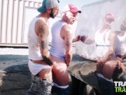 TRAILERTRASHBOYS Bryce Hart And Romeo Davis Raw Breed Hard