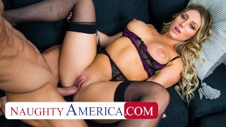 Naughty America Kayley Gunner wants a promotion and she will fuck her boss for it!!