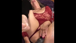 Hot Cougar Granny Fucks Her Big Pussy With Huge Dildos (11+min video on OnlyFans)