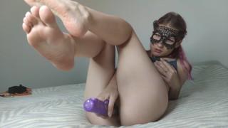 Amazing feet and crazy slut, whore wife like deep fast hard fuck in all holes, 4K UHD, julandjon