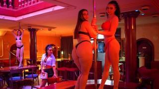 Kiki doing anal at a Strip Joint