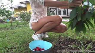 Nude Picking Cherries in front of Neighboars (teaser, Music)