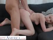 Naughty America - Scarlett Hampton fucks her dad's friend to get her Spain trip paid