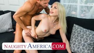 Naughty America Scarlett Hampton fucks her dad's friend to get her Spain trip paid