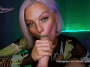 Slobbery blowjob by green dragon