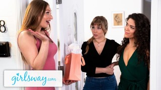 GIRLSWAY Lena Paul's Wet Threesome Birthday Gift Surprise