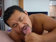 Muscle Asian Star @BobbyMaruXXX Sucks My Dick Until I Shoot