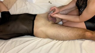 How to put Prince Albert chastity cage