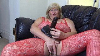 Filthy Big Tit Step Mom wants to fuck you in the ass with her Strap on