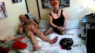 I'm tumbling in bed with my mature red lustful fox, pounding her in all her holes.. ))