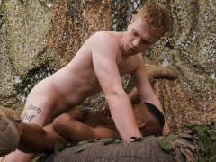 Ginger Soldier Flip Fucks Ebony Recruit Adrian Hart - ActiveDuty
