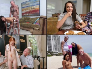 BLUE PILL MEN – Old Dudes Fucking Hot Teens, Featuring Kharlie Stone, Dolly Little & More!