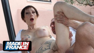Anal sex with a busty mature woman