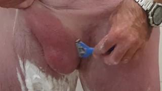 Trim and shave huge dick, masturbating afterwards, shaking orgasm - Big dick daddy - FULL VERSION
