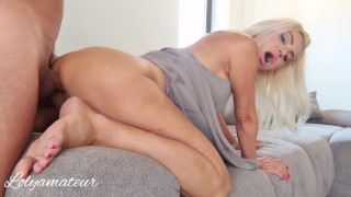 Stepmom Anal with Stepson while talking with husband on the phone