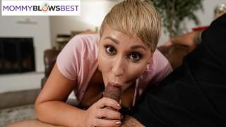 Big Tittied Stepmom Gives Amazing Blowjob MommyBlowsBest