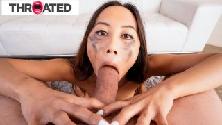 Petite Asian Cutie Loves Giving Rough Blowjobs Throated