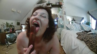 Strip and wet and tender blowjob on dildo from PAWG DawnSkye