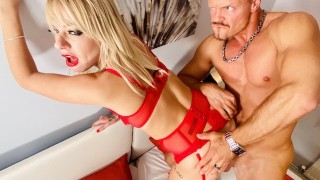 Coffee Date with Blonde Slut Mature Milf APRIL PAISLEY - Sip, Blowjob, Fuck - WolfWagnerCom
