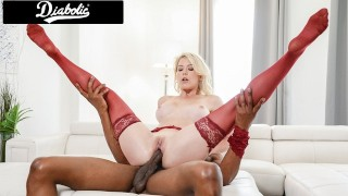 Big Tittied Blonde Milf Fucked Fast By A BBC Diabolic