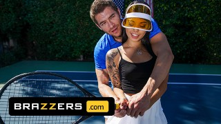 Brazzers Gina Valentina Gets A Muscle Sprain & Xander Corvus Soothes Her Pain With His Huge Cock