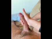 Zack Fit wakes up playing with his cock