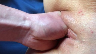 Very first fisting training for tight slutina pussy.