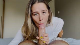 Stunning Eye Contact Blowjob With Beauty She Got Huge Cumshot 4K