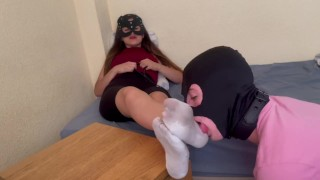 |PRINCESS YOSSE| my submissive cleans my dirty feet with his tongue| Feet Fetish|