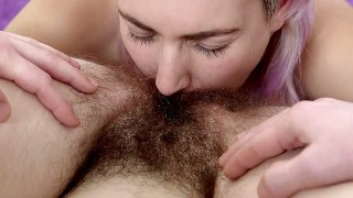 Girls Out West - Horny Aussie lesbians lick hairy cunts
