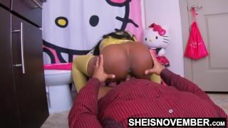 EbonyTeen Fucked Hard By StepDad In Her Bathroom Sheisnovember Getting Hardcore Daughterinlaw Sex