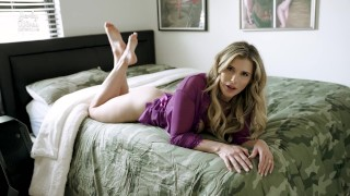 Busty Step Mom Lets Me Fuck Her Ass and Pussy in My Bed - Cory Chase