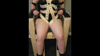 Trapped in the bondage chair