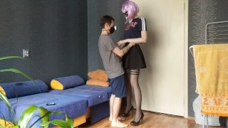 Very tall schoolgirl seduced me after class. Such a bitch